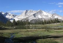 Sierra Nevada Mnts / The Sierra Nevadas are a beautiful and rugged mountain range in eastern California and northwest Nevada, that is home to Lake Tahoe, Mount Whitney,  Yosemite National Park, many towns, rivers, meadows and other amazing sites. / by Scott Kelley