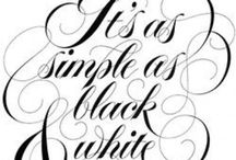 BLACK & WHITES / Everything Black & White / by Colleen