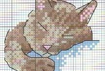 CROSS STITCH: CATS / adoro tudo que tem gatos / by Conceição Mourão