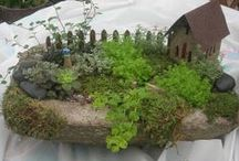 """GARDEN FAIRIES & GNOMES GARDEN IDEAS #2 / Be sure to check out my other """"GARDEN FAIRIES"""" boards for fairy dolls, houses and accessories. Leave room in your garden for fairies to dance! No space is too small or to large for a fairy garden. A few of my favorite fairy and gnome gardens, many DIY.  / by Linda Blunk"""