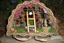 GARDEN FAIRIES & GNOMES HOMES & TREE HOUSES #2 / A fairy home or tree house is a must....for if you don't have one, where will your fairies stay. Here is a collection of my favorite, many DIY and great inspirations! / by Linda Blunk