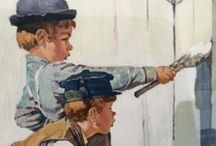 Poignant Humorists / An Exhibit of Rockwell Prints Based on Twain Classics, The Adventures of Tom Sawyer and The Adventures of Huckleberry Finn, kindly donated to the University of Colorado by Dr. and Mrs. David R. Gillingham (M.D.–1963) in memory of Dr. Robert W. Hendee (M.D.–1961). On exhibit Feb 3–28, 2013 in the Gallery of the Health Sciences Library http://hslibrary.ucdenver.edu/exhibits #CUAnschutz #CUDenver #CUHSLibrary / by Health Sciences Library, Anschutz Medical Campus, University of Colorado