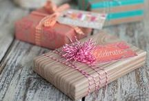 Gift of Giving / Brown paper packages tied up with string...it's all in the presentation. Wrapping, gift baskets, and ideas for homemade presents. / by Heather Campbell
