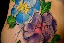 Watercolor Flower Tattoos / Ideas for tattoo #20 / by Lory-Ann Varela