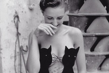 females & felines. / female beauty and feline warmth. / by Shaïna Doliny