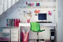 Home Office, Crafts, Sewing / Home for Study, Office & Crafts, Hobbies, Sewing rooms (Organize Ideas). Stationery, keys / by Soundof Music