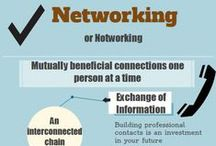 NETWORK / Tips and ideas for you to consider as you define what networking means to you and how it works. - before you have a job, during your job, and after your job. / by Meredith College ACP