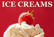 """Luscious Ice Creams / """"100+ Luscious Ice Creams without a Machine ~ or much time or effort or having to mash the stuff as it freezes!""""  also contains  over 30 recipes for sauces, syrups and inclusions.   Also companion volume, """"Sorbets & Granitas, both available from Amazon here ... http://www.amazon.co.uk/Suzy-Bowler/e/B00AG1YUKE/ref=ntt_dp_epwbk_0                                         / by Suzy Bowler"""