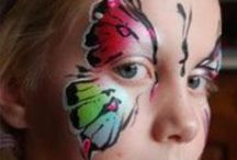 Face Painting Butterfly / Butterflies and butterfly masks are part of the face painting staple. Be inspired by this collection of beautiful butterflies, butterfly masks and more. / by The Face Painting School