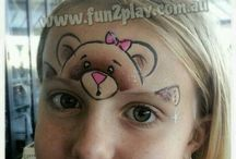 Face Painting: fast and fun / #facepaint fast and fun - quick designs can be completed in under 5 minutes / by The Face Painting School