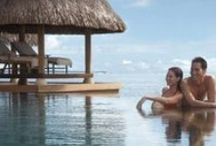 Over the water honeymoon Bungalows / by Inspired Destination Weddings