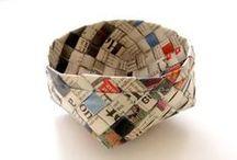 Crafts: Weaving & Basketry / #upcycling #recycling #reuse #paper #craft #diy #weaving #basketry  / by La Bottega Degli Usvei