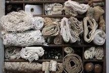 > diy: fabrics · yarns · tejidos · telas · cintas · textile · lace · ribbons... / by la-buhardilla