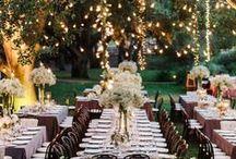 Evening outdoor wedding inspiration / by BCN 2015