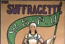 Suffragette City / Manchester is a city full of suffragette history so some SALC students decided to focus some pins on gender, feminism and more! / by School of Arts, Languages and Cultures