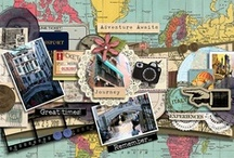 Scrapbooking ** Travel & Vacation  / Scrapbook Layout ideas for Travel and Vacationing / by Stuff4Crafts