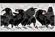 Black Birds, Ravens, Crows... / Crows & Ravens are the smartest birds on the planet. They are the only birds that stay with ALL their family for life. Ravens not only remember people who help them, but they tell their friends about the kindness. In field studies, researchers have observed that whenever a human assists a raven or crow in trouble, the entire community of these corvidaes, not just the bird that was helped, becomes generally friendlier toward & more trusting of the human benefactor.  / by Susie Brooks
