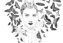 illustration / illustration - graphic design - pencil drawing - art - artist - Graphic designer  / by ☪ Forget Me Not Studio ☪