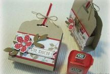 StampinUp punch scallop tag / by Aletta Heij