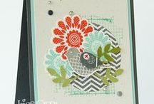 StampinUP Polka Dot Pieces + Bird builder punch / by Aletta Heij
