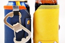 Beer/Drink Koozies / Leather and Wool Drink Koozy that fits both Bottle and Cans. Perfect for your cold craft beer! / by Cross Bags