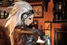 Steampunk female / Illustration, photography,Steampunk,Dieselpunk, / by Hiro Nakano
