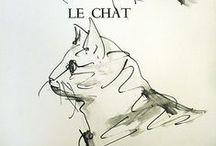 Le chat / Je souhaite dans ma maison : / Une femme ayant sa raison, / Un chat passant parmi les livres, / Des amis en toute saison / Sans lesquels je ne peux pas vivre. *** Guillaume Apollinaire / by MiriaM