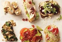 Cooking - Sandwich + Crostini + Pizza / Sandwiches, crostini, and pizzas; three foods adept at the art of putting delicious toppings on warm bread. Where's the line between a crostini and an open face sandwich? I'm gonna have to go with toast size.  / by Mira Breland