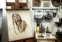"""in the studio / """"Magic becomes art when it has nothing to hide"""". Ben Okri   / by Susanna Artistea"""