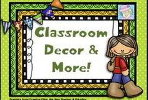Classroom Decor & More! / This board is filled with decorating ideas for the classroom.  It includes bulletin board ideas, reading area arrangements, and everything related to making your classroom look fabulous! / by Teacher Tam