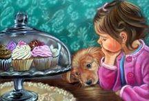 Images - Cute Illustrations Art / cute or funny artwork & illustrations / by Brenda Rhein