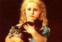 Art - Victorian (kids & animals) / Victorian art with animals and children / by Brenda Rhein