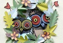 Decorative owls / civette e gufi creati dalla fantasia / by Simona Cazzaro