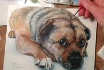 drawing and painting animals / by Ginger Cat