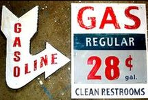 """Gas Stations - Products - Signs /  """"Disclaimer"""" : These are """"Pins"""" reflecting personal interest. I do not claim copyright or ownership of any content on this board.  I make every effort to give proper credit whenever possible. / by gwynne wilder"""