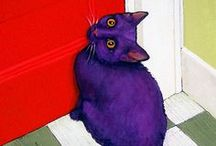 Purr-ply Purr-fect Pussycats / It's kitties! and in purple! and some have coffee!  Triple play!! / by Penny B