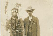 Cowboys and Indians / Western themed vintage photos.  I've collected vintage Cherokee photos for years as a tribute to my mother's Cherokee heritage. / by Lulus Five and Dime
