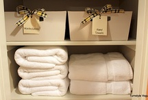 Home Organization- Linen Closet / Organizing & style / by Confident Moms   Confident Kids