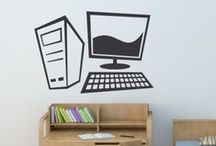 Office Wall stickers / Why not brighten up your office with one of our Office Wall Art Stickers? In our design collection there are office workers, stationary items, popular office related icons and many more. They're not only easy to install but they're also a cost effective way to decorate without the need for paint or any mess. / by Icon Wall Stickers
