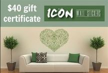 Giveaways & product reviews / A board with our latest giveaways and competitions!  / by Icon Wall Stickers