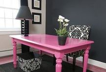 Girly Office Spaces / Get inspired to design a girly and chic entrepreneur office spaces for fashionable modern women who work from home. Everyone needs a place to work even if they run an online boutique or salon.  / by Girly Business Cards
