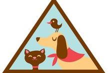 Brownie Pets Badge Ideas  / Requirements for earning the Brownie Pets Badge--  Step 1: Find out what different pets need.  Step 2: Help a pet stay healthy and safe.  Step 3. Help a pet feel loved.  Step 4. Feed a pet. / by Brownie Girl Scout Badges