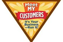 Brownie Meet My Customer Badge / Requirements for Meet My Customer Brownie Badge-- Step 1: Find out where your customers are.  Step 2: Talk to some customers.  Step 3: Practice handling money and making change.  Step 4: Role-play good customer relations.  Step 5: Thank your customers! / by Brownie Girl Scout Badges