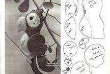 Moldes em feltro / Moldes para trabalhos em feltro / by Kelly Bianchini Araujo
