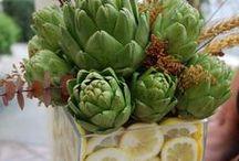 Floral Vase Arrangements with Fresh Artichokes / Floral decor arrangements & table centerpiece designs made with fresh artichokes / by Artichoke Club