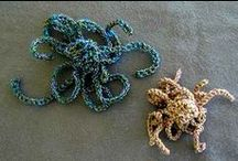 coral pieces - crochet art / by Gayle Chalmers