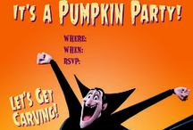 #HotelTHalloween - Party Invites / We're bloody excited for Halloween! Share the thrill with your friends by throwing a party – get your invites here! http://hotelt.tumblr.com #HotelTHalloween / by Hotel Transylvania