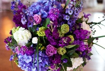 Wedding Flowers / Colors: Amethyst (Purple), aquamarine (Blue), & Peridot (Green) / by Ginger Cheung