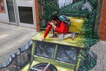 STREET ART ─ Art Like / Arte en la ciudad, en las calles, en los andenes, en sus paredes, el arte se toma el sistema de las maneras mas creativas y espectaculares / by ArtLike All