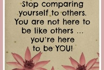 Be True to You / You are unique. You were given unique talents and gifts that only you can share with the world.  Don't live your life trying to be someone you're not. Be who you were born to be! / by Believe and Create